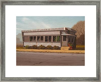 Holiday Diner Framed Print by Robert P  Waddington