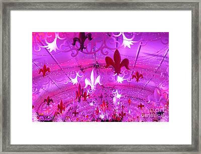Framed Print featuring the photograph Holiday Fleur De Lis by Jeanne  Woods