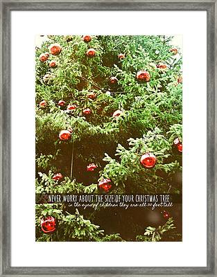 Holiday Garnish Quote Framed Print by JAMART Photography