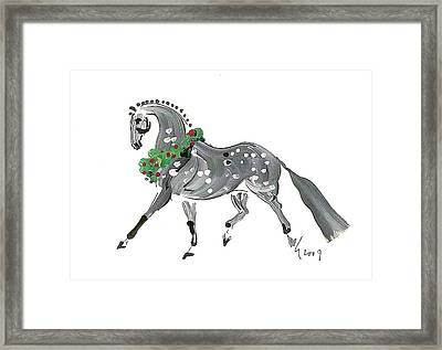 Holiday Gray Framed Print by Liz Pizzo
