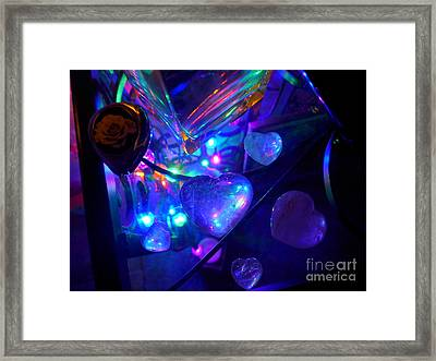 Holiday Hearts Framed Print by Marlene Rose Besso