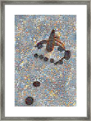 Holiday Hearts Snowman Framed Print by Boy Sees Hearts