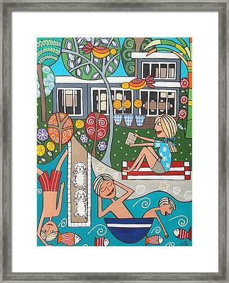 Holiday House Framed Print