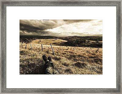 Holiday In Tasmania Framed Print