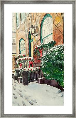 Holiday In The City Framed Print by John Schuller