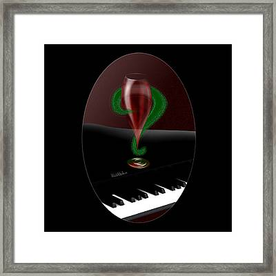 Holiday Interrobang Framed Print