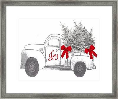Framed Print featuring the digital art Holiday Joy Chesilhurst Farm by Kim Kent