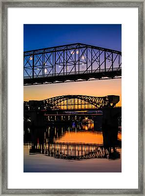 Holiday Lights Chattanooga #2 Framed Print by Tom and Pat Cory