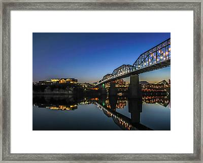 Holiday Lights Chattanooga #4 Framed Print by Tom and Pat Cory