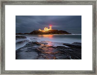 Holiday Lights Framed Print by Christopher Georgia