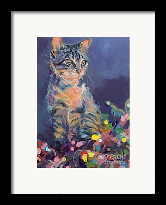 Cat Art Framed Prints