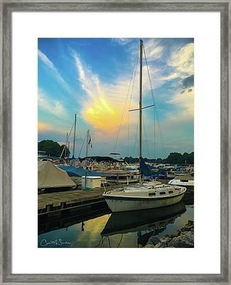 Holiday Marina Framed Print