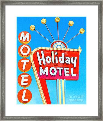 Holiday Motel Las Vegas Framed Print by Wingsdomain Art and Photography