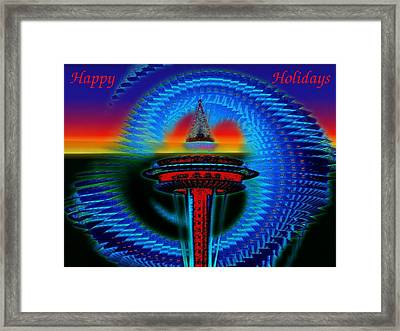 Holiday Needle 2 Framed Print by Tim Allen