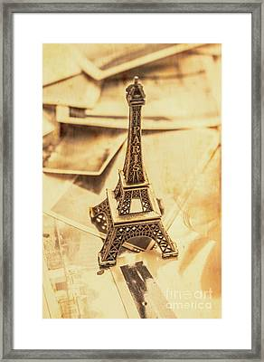 Holiday Nostalgia In Vintage France Framed Print