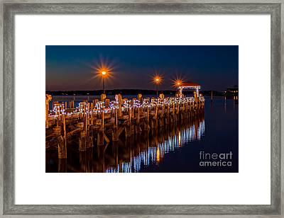 Holiday On The Docks Framed Print
