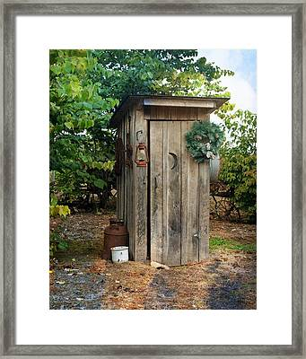 Holiday Outhouse Framed Print