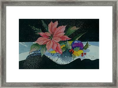 Holiday Poinsettia Framed Print