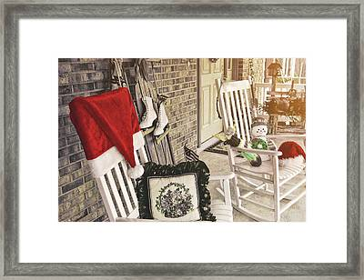Holiday Porch Framed Print by JAMART Photography
