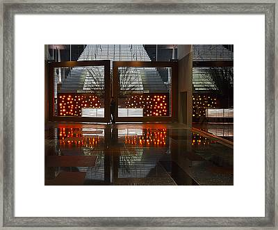 Framed Print featuring the photograph Holiday Reflections by Ron Dubin