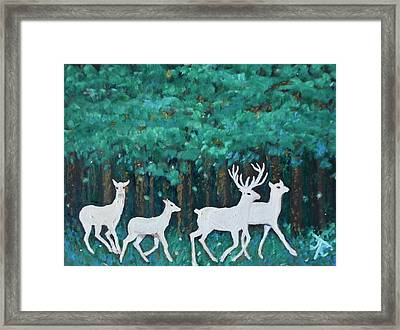 Holiday Season Dance Framed Print