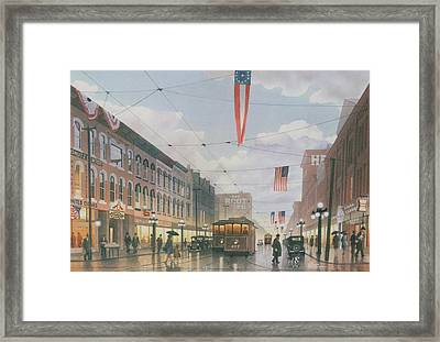 Holiday Shoppers Framed Print