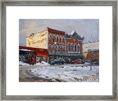 Holiday Shopping In Tonawanda Framed Print by Ylli Haruni