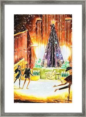 Holiday Skate Framed Print