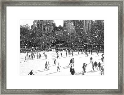 Holiday Skaters Framed Print