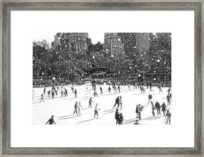 Holiday Skaters Framed Print