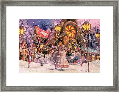 Holiday Village Framed Print