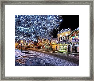 Holiday Village, Leavenworth, Wa Framed Print