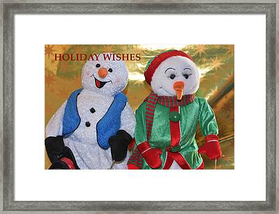 Holiday Wishes Framed Print by Linda Brody