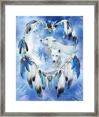 Holiday Wolves Framed Print
