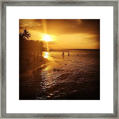 #holidayinresortjamaica Framed Print by Tammy Wetzel