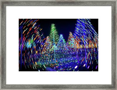 Holidays Aglow Framed Print by Rick Berk