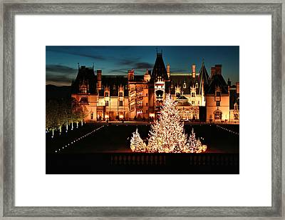 Holidays At Biltmore House Framed Print