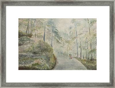 Framed Print featuring the painting Holidays In Shimla by Geeta Biswas