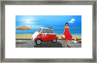 Holidays In The 60s Framed Print by Monika Juengling