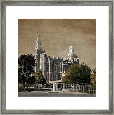 Holiness In Cache Valley Framed Print by Greg Collins