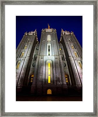 Holiness To The Lord Framed Print