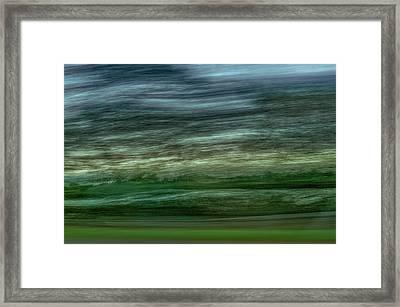 Hollands Oktoberlandschap In Het Voorbijgaan --- Dutch Landscape In Passing Framed Print