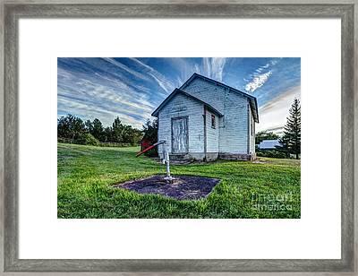 Holleford Schoolhouse Framed Print