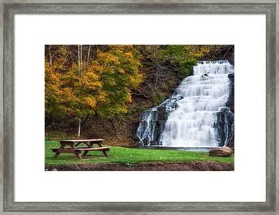 Framed Print featuring the photograph Holley Canal Falls by Mark Papke