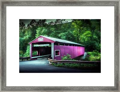 Hollingshead Coverd Bridge Framed Print by Marvin Spates