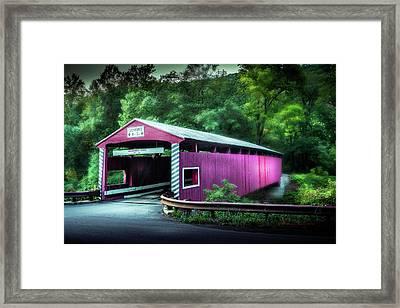 Hollingshead Coverd Bridge Framed Print