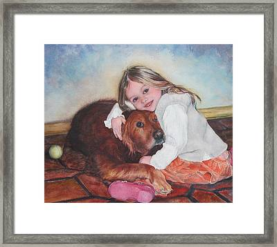 Hollis And Hannah - Cropped Version Framed Print