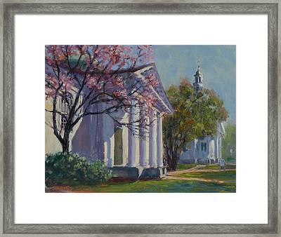 Hollis Social Library In Spring Framed Print