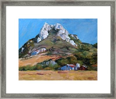 Hollister Peak Framed Print by Peter Salwen