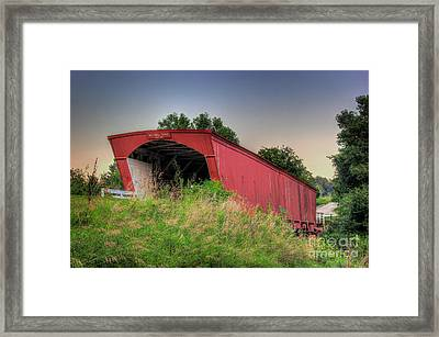 Holliwell Covered Bridge Framed Print
